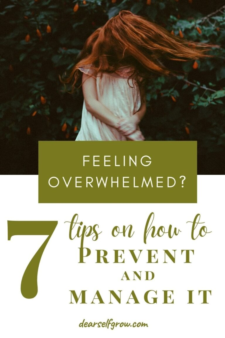 things to do when feeling overwhelm pin