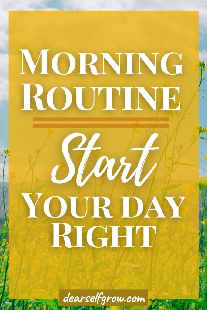 Early Morning Routine pin image