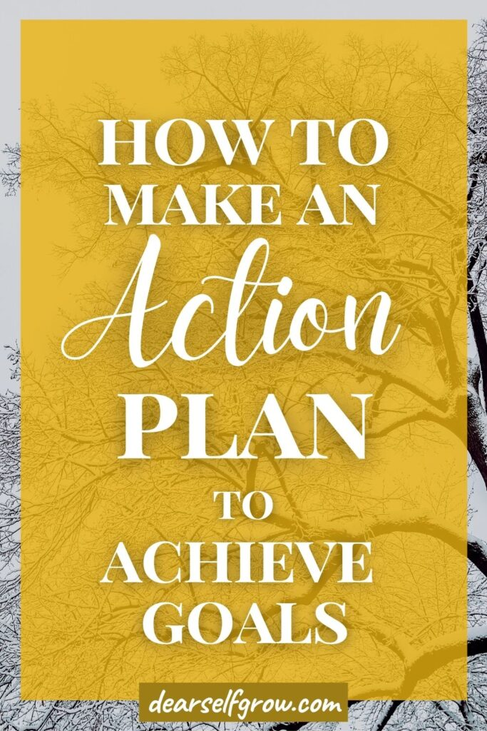 How to make an action plan pin image