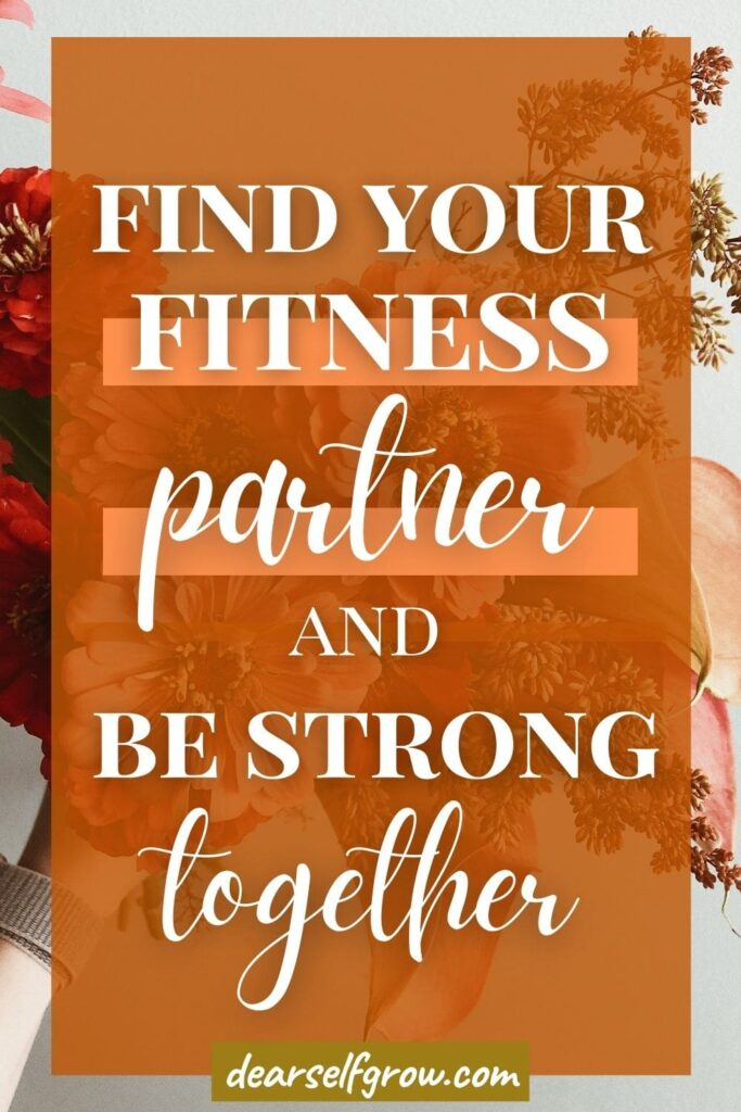 Find your fitness partner and be strong together. Pin image